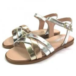 Sandalia Piel Metalizada - Chuches