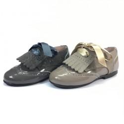 Zapato Inglés Charol y Serraje - Dardos
