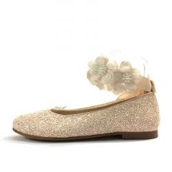 Bailarinas Glitter con Flores - Oca Loca