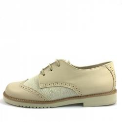 Zapato Blucher Piel y Lino - Zapatinos