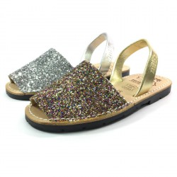 Menorquinas Piel Glitter - Mibo