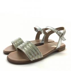 Sandalias Metalizadas Brillantes - Andanines