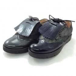 Zapato Inglés Charol y Serraje Suela Ancha - Dardos